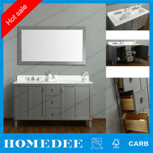homedee bathroom vanity cabinets double sink, bathroom furniture by Chinese supplier