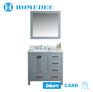 Homedee modern oak wood small bathroom vanity cabinet America