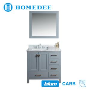 Homedee modern oak wood small bathroom vanity cabinet America