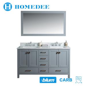 Homedee style selections vanity waterproof solid wood bathroom cabinet