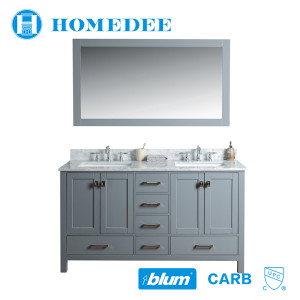 Homedee style selections vanity waterproof solid wood bathroom cabinet