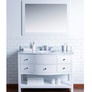Homedee modern style with solid wood bathroom vanity
