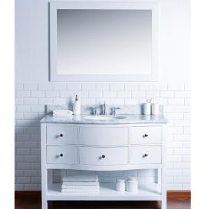 Homedee modern style with solid wood bathroom vanity