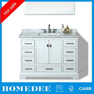 homedee polywood furniture bathroom vanity,modern single sink white bathroom  Furniture