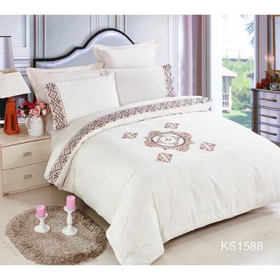 KOSMOS 100% cotton mandala embroidery duvet cover set