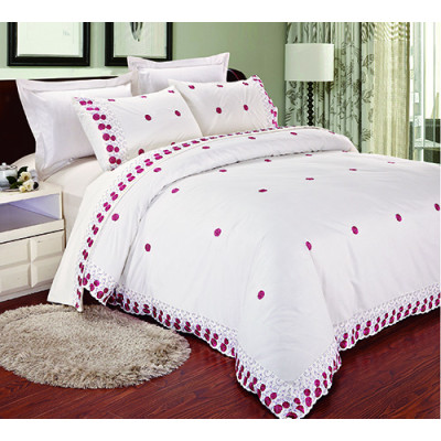 KOSMOS hot sale 100% polyester embroidery duvet cover set