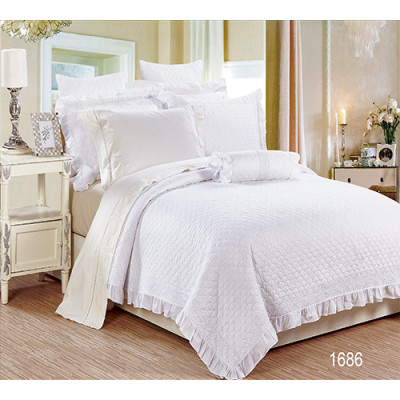 KOSMOS high quality white home 100% embroidery bedspread