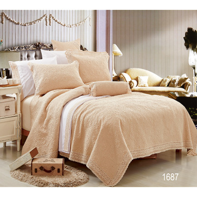 KOSMOS hot selling 100% cotton embroidery bedspread