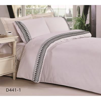 KOSMOS luxury 100% cotton embroidery bed sheet set