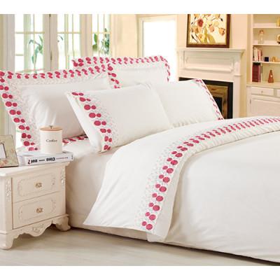 crochet cotton cherry ham bedding set comforter set