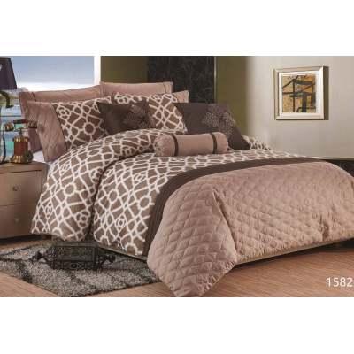 KOSMOS 100% cotton leopard printed comforter set