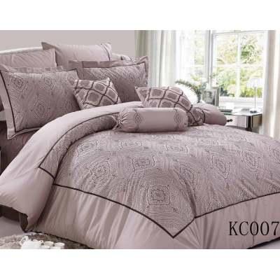 Queen king size light purple microfiber cotton duvet cover sets patchwork
