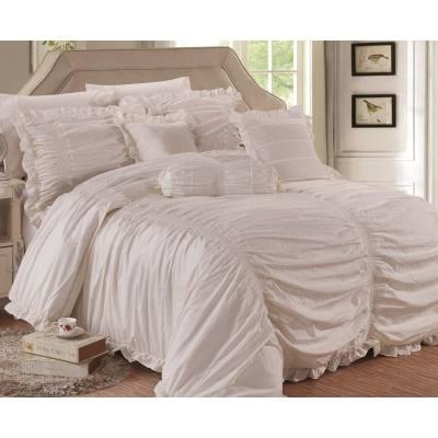 KOSMOS luxury bedding set 100% cotton embroidey comforter set
