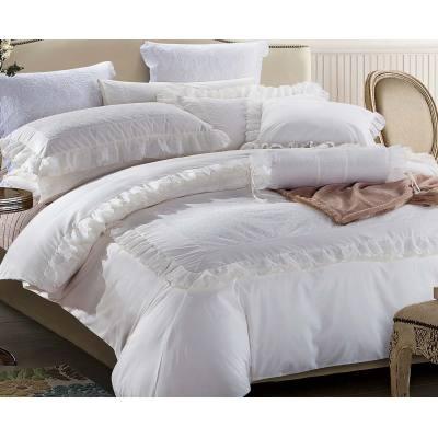 KOSMOS white T/C embroidery comforter sets