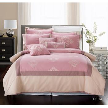 KOSMOS luxury Jacquard light pink duvet cover set