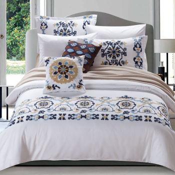 2017 new luxury embossed towel embroidery Mediterranean style duvet cover set