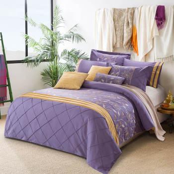 2017 new luxury dubai bedding set emboridery pure duvet cover set
