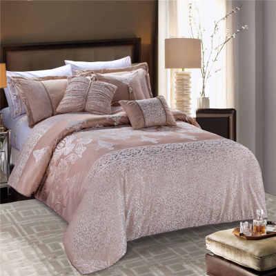 2017 new luxury dubai bedding set jacquard pure duvet cover set