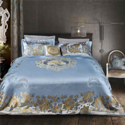 2017 new luxury jacquard bedding set silky soft comforter set duvet cover set