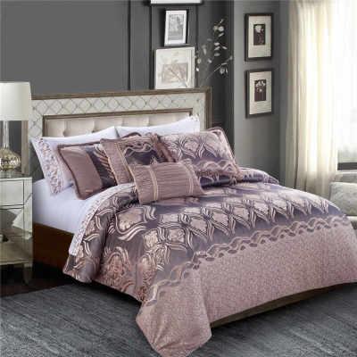 2017 new luxury jacquard bedding set silky soft super king bedding comforter sets