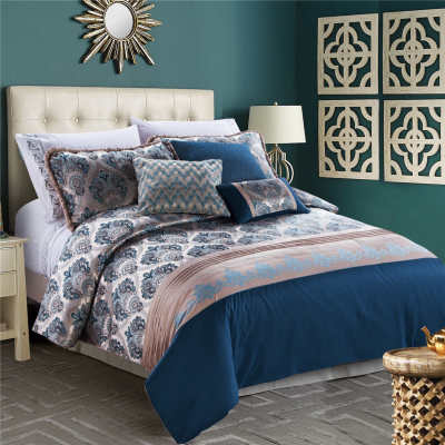 2017 new luxury jacquard bedding set bed linen comforter set duvet cover set