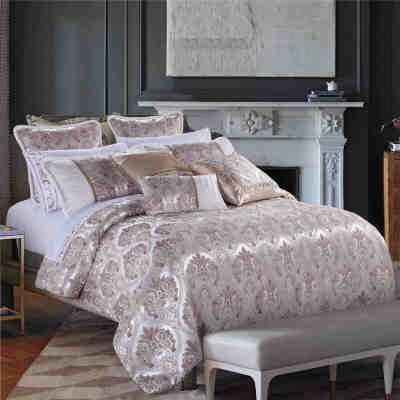 2017 new royal luxury jacquard floral silky soft duvets bedding set