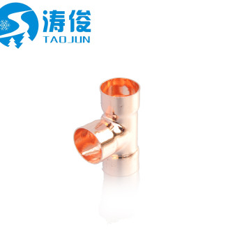 Refrigeration parts copper 4 way pipe fitting