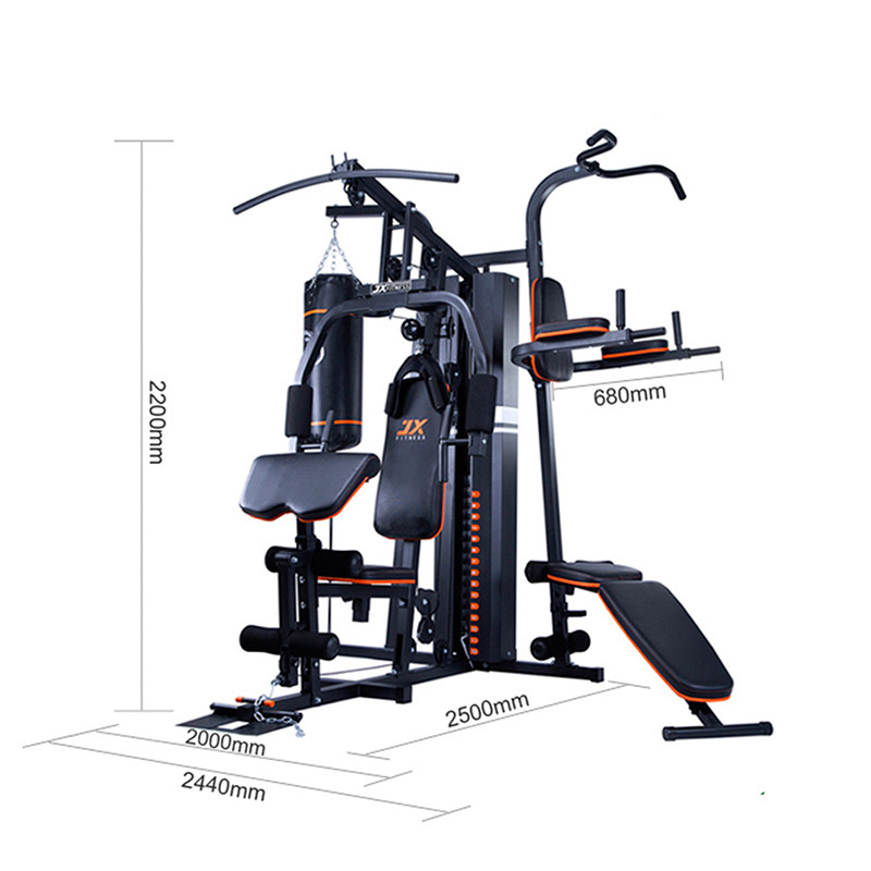Multi Functional 3 station with boxing punching bag for home gym ...