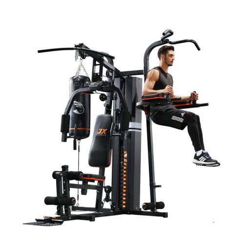 Multi Functional 3 station with boxing punching bag for home gym