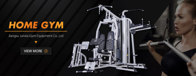 Treadmill, fitness bike, exercise bench, home gym
