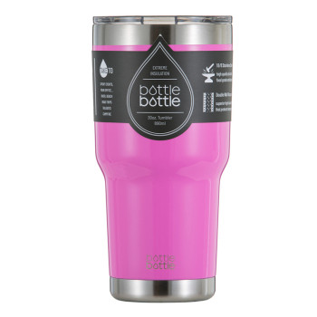 30 OZ Vacuum Insulated Tumbler -  Shiny Cherry Pink
