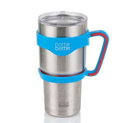 BottleBottle 30oz Handle for YETI Rambler Tumbler, RTIC, Ozark Trail, SIC Coffee Mug, Blue & Red