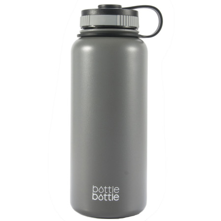 32oz Wide Mouth Double Wall Vacuum Stainless Steel Water Flask ,Cold Grey