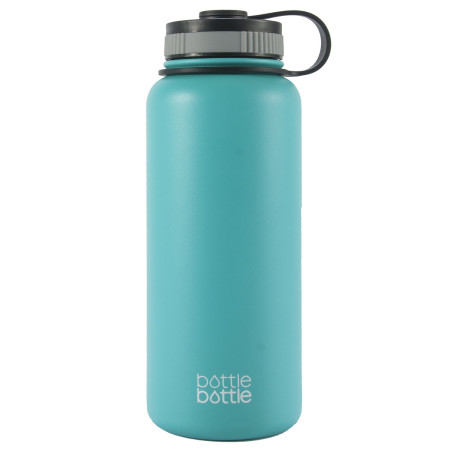 32oz Wide Mouth Double Wall Vacuum Stainless Steel Water Flask ,Freshing Blue