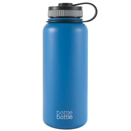 32oz Wide Mouth Double Wall Vacuum Stainless Steel Water Flask ,Galacier Blue