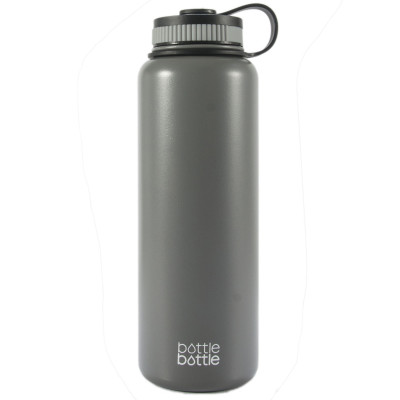 40oz Wide Mouth Double Wall Vacuum Stainless Steel Water Flask ,Cold Grey