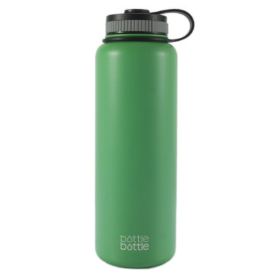40oz Wide Mouth Double Wall Vacuum Stainless Steel Water Flask ,Spring Mint Green