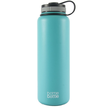 40oz Wide Mouth Double Wall Vacuum Stainless Steel Water Flask ,Freshing Blue