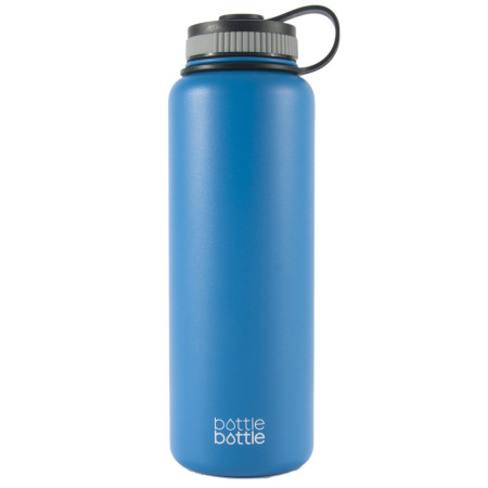 40oz Wide Mouth Double Wall Vacuum Stainless Steel Water Flask ,Galacier Blue