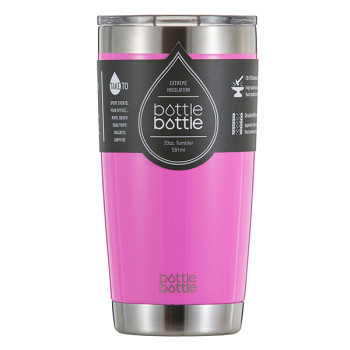 20 OZ Vacuum Insulated Tumbler - Shiny Cherry Pink