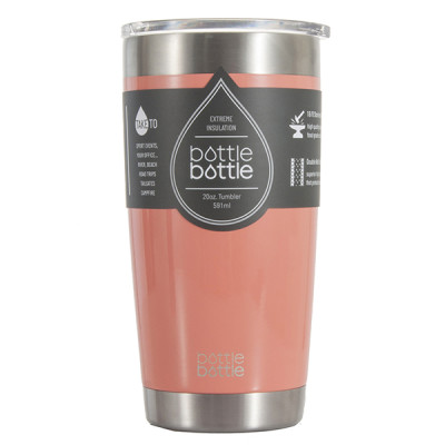 20 OZ Vacuum Insulated Tumbler - Light Coral Pink