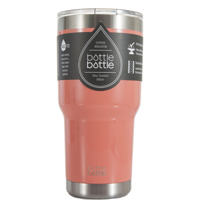 30 OZ Vacuum Insulated Tumbler - Light Coral Pink