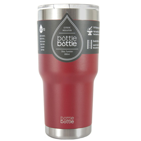 30 OZ Vacuum Insulated Tumbler - Bordeaux Red