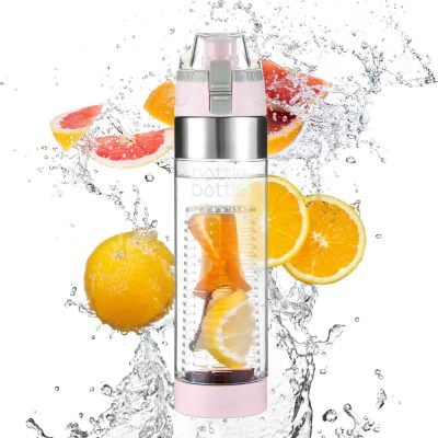 Bottlebottle 700ml Fruit Infuser Water Bottle with Flip Lid Lemon Juice Make Bottle BPA Free