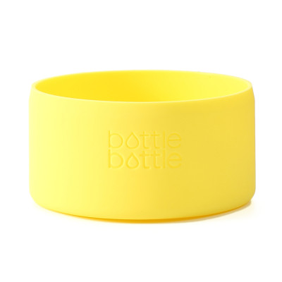 Bottlebottle Protective Silicone Sleeve Bottom Cover for Hydro Flask, Medium, Lemon Yellow