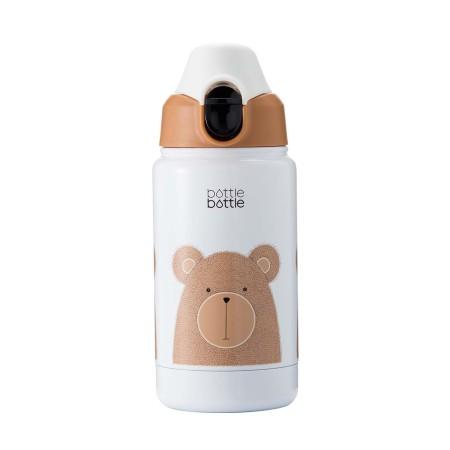 Bottlebottle 12oz Vacuum Insulated Stainless Steel Kids Water Bottle with Leak Proof Flip Lid, BPA Free Thermos Travel Mug