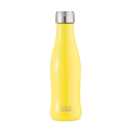Bottlebottle Vacuum Insulated Stainless Steel Water Bottle, 15oz Leak Proof Double Walled Cola Shape Bottle Keeps Hot and Cold Drinks for Camping Hiking Cycling