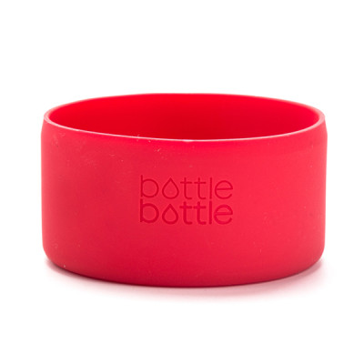 Bottlebottle Protective Silicone Sleeve Bottom Cover for Hydro Flask, Medium, Red