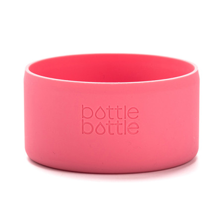 Bottlebottle Protective Silicone Sleeve Bottom Cover for Hydro Flask, Large, Hawaii Pink