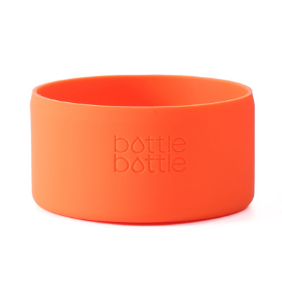 Bottlebottle Protective Silicone Sleeve Bottom Cover for Hydro Flask, Large, Tropical Orange